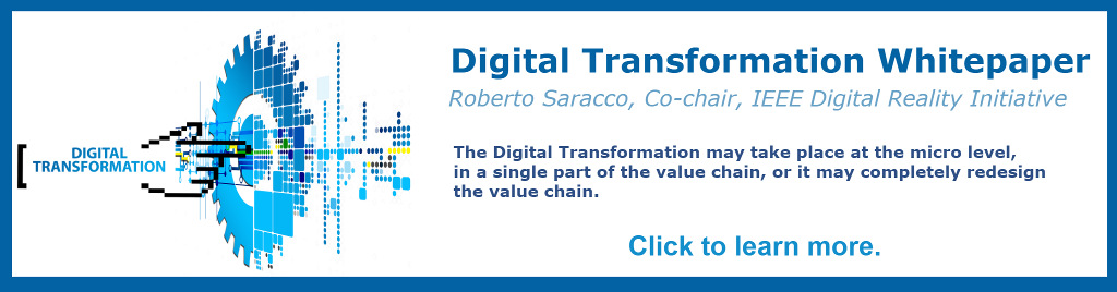 Digital Transformation White Paper. The Digital Transformation may take place at the micro level, in a single part of the value chain, or it may completely redesign the value chain.