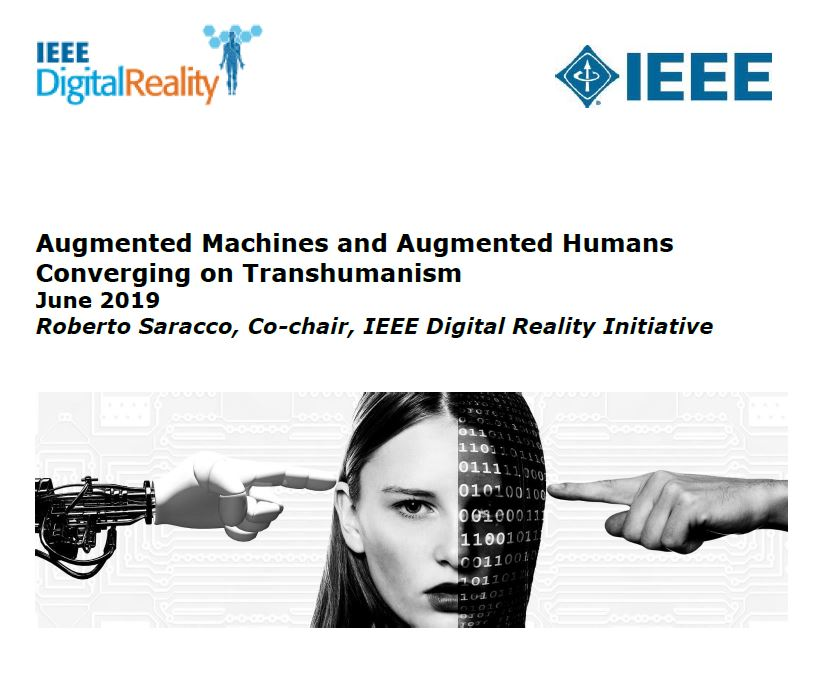 Augmented Machines and Augmented Humans Converging on Transhumanism